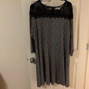 ❤️Michael Kors 2xL black and white with lace dress